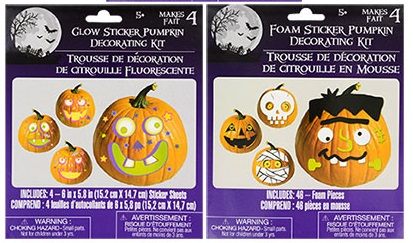 pumpkins, stickers, glow in the dark, halloween, fall decorating