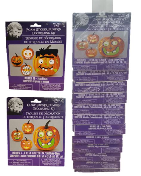 pumpkins, stickers, glow in the dark, halloween, fall decorating, fall stickers